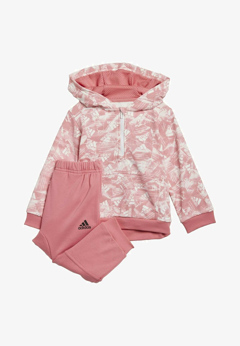 adidas Performance - BADGE OF SPORT ALLOVER PRINT JOGGER SET - Trainingspak - pink