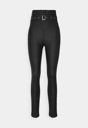 CORSET BELT COATED VICE - Trousers - black