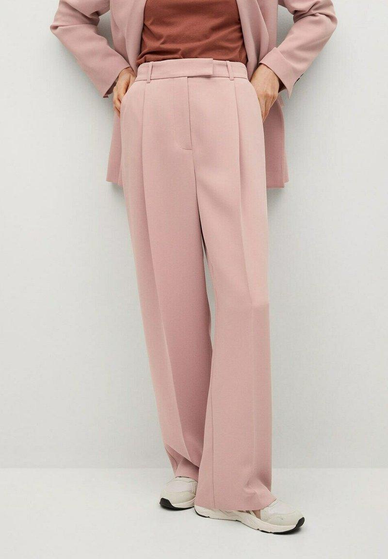 Mango - Trousers - pastelroze