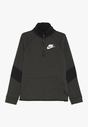 Sweatshirt - black/heather/white