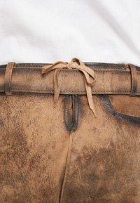 Krüger Dirndl - Kožené kalhoty - light brown - 4