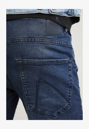 CROWN OREGON - Straight leg jeans - dark blue