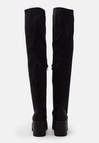 Missguided - CHUNKY BOOTS - Overknee laarzen - black - 3