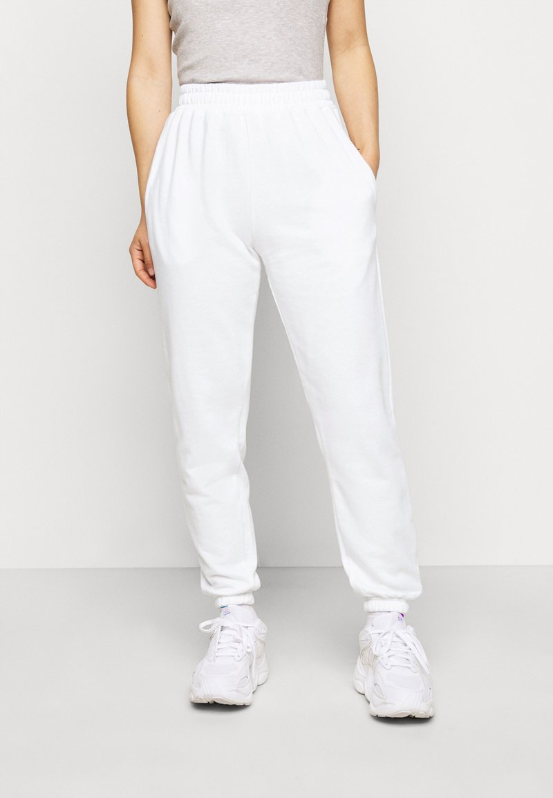 Missguided Petite - 2 PACK BASIC JOGGER - Pantaloni sportivi - white/black
