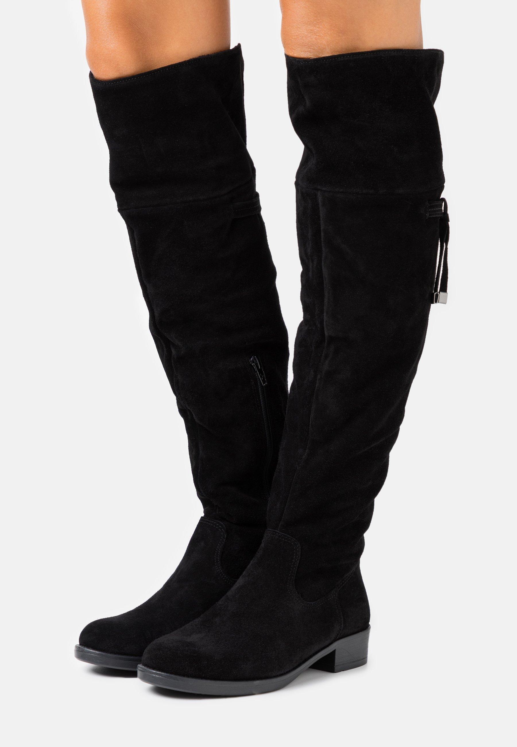Tamaris BOOTS Overknee laarzen black Zalando.nl