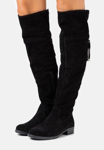 BOOTS - Overknee laarzen - black