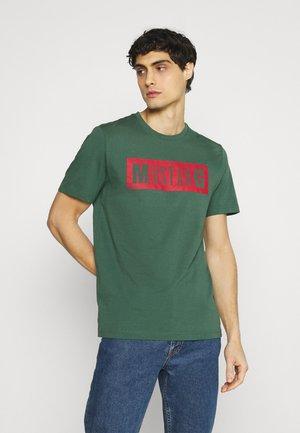 ALEX LOGO TEE - Print T-shirt - mallard green