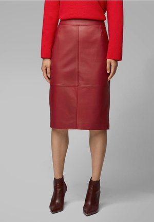 SELRITA - Pencil skirt - dark red