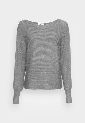 ONLADALINE LIFE SHORT - Stickad tröja - medium grey melange