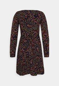 Miss Selfridge - PAISLEY SQUARE NECK MINI DRESS - Day dress - black - 1
