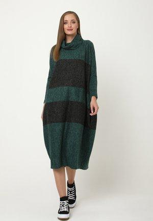 Jumper dress - grün/schwarz