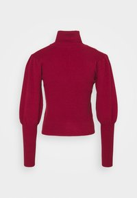 Farm Rio - PUFF SLEEVE TURTLENECK - Jumper - burgundy - 7
