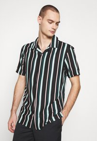Common Kollectiv - UNISEX STRIPED SHORT SLEEVE BOWL - Shirt - black - 3