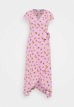 FLORAL WRAP MIDAXI DRESS - Kjole - purple