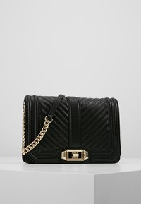 Rebecca Minkoff - CHEVRON QUILTED SMALL LOVE - Across body bag - black - 0