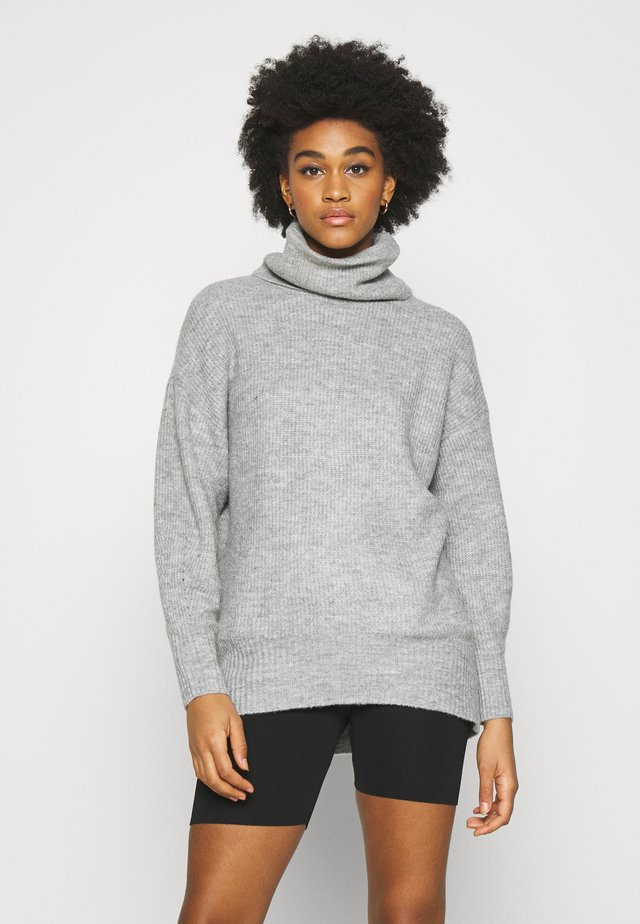 FASH SLOUCH ROLL - Jumper - mid grey