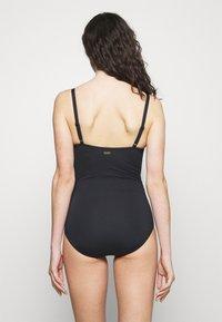 LASCANA - SWIMSUIT - Swimsuit - black/creme - 2