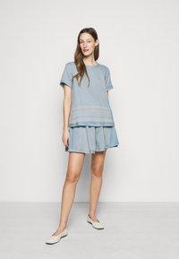 CECILIE copenhagen - SKIRT - A-line skirt - cloud - 1