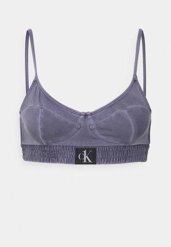 AUTHENTIC DEMI BRALETTE - Bikini top - blue