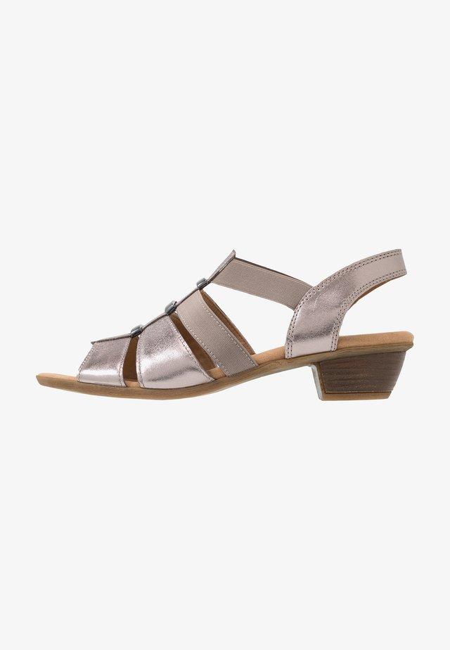 Sandalias - luxor metallic mutaro