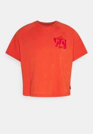 RAGLAN TEE UNISEX - T-shirt print - bright poppy heather