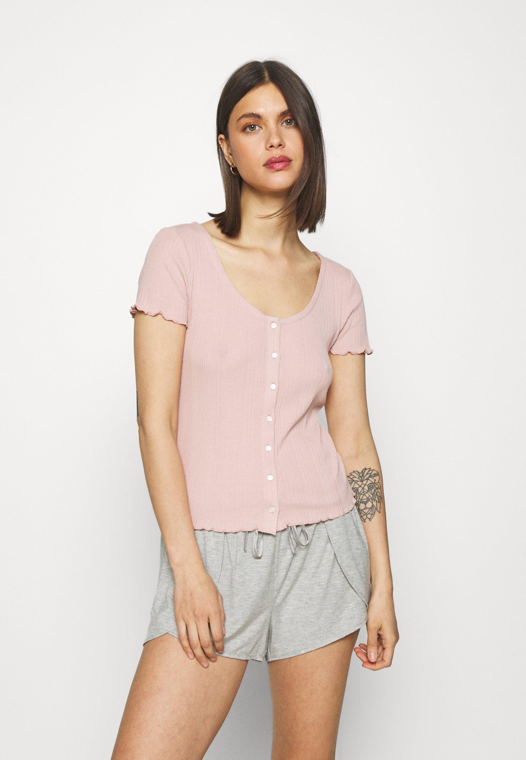 Damen BUTTON TOP - Nachtwäsche Shirt
