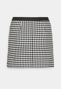 Simply Be - HOUNDSTOOTH MINI SKIRT - Mini skirt - black/white - 4