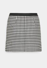 HOUNDSTOOTH MINI SKIRT - Mini skirt - black/white