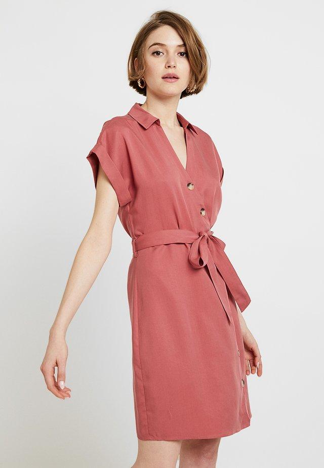 ROSIE WRAP DRESS - Shirt dress - burnt sienna