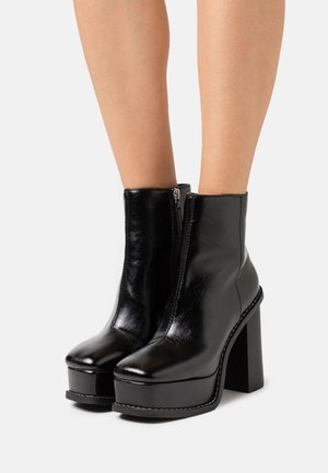 HELSINKI EXTREME PLATFORM BOOT - High heeled ankle boots - black