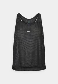 TANK - Sports shirt - black/smoke grey