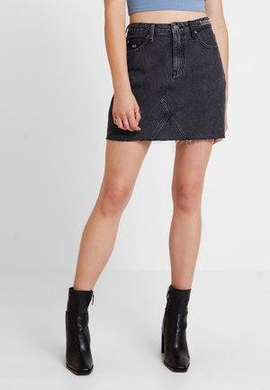 SHORT SKIRT - Denimová sukně - care mix black