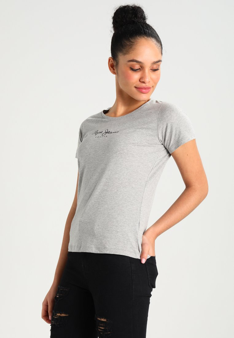 Pepe Jeans - NEW VIRGINIA - T-shirt z nadrukiem - grey marl