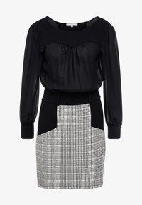 Patrizia Pepe - ABITO DRESS - Day dress - ivory/black - 4