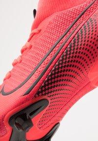 Nike Performance - MERCURIAL JR 7 ACADEMY FG/MG UNISEX - Moulded stud football boots - laser crimson/black - 2