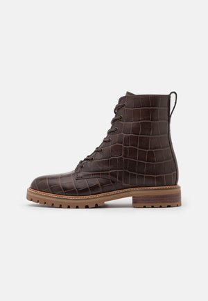 CLAIR LACE UP BOOT  - Lace-up ankle boots - dark coffee