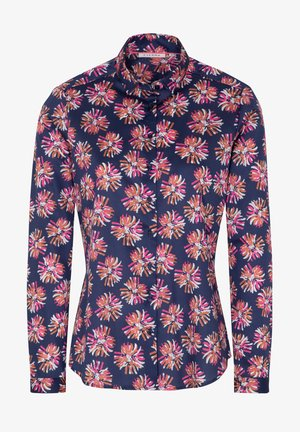 Overhemdblouse - royalblau pink