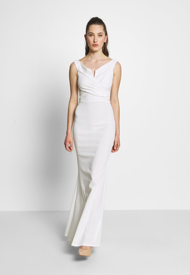 OFF THE SHOULDER DRESS - Occasion wear - white