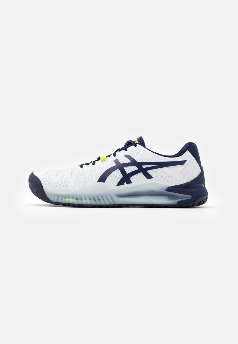 ASICS - GEL RESOLUTION 8 - Multicourt tennis shoes - white/peacoat