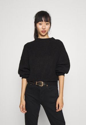 OVERSIZED JUMPER - Jumper - black
