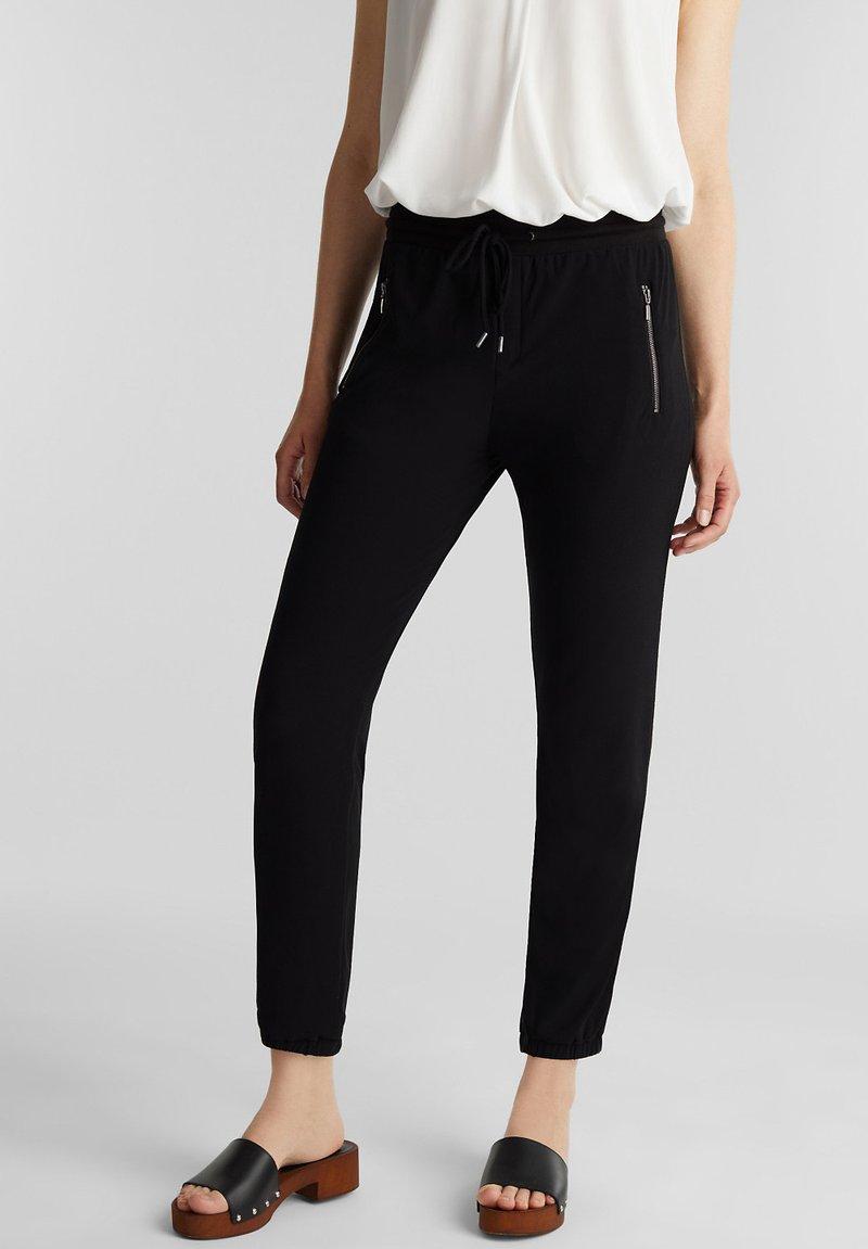 Esprit - Teplákové kalhoty - black