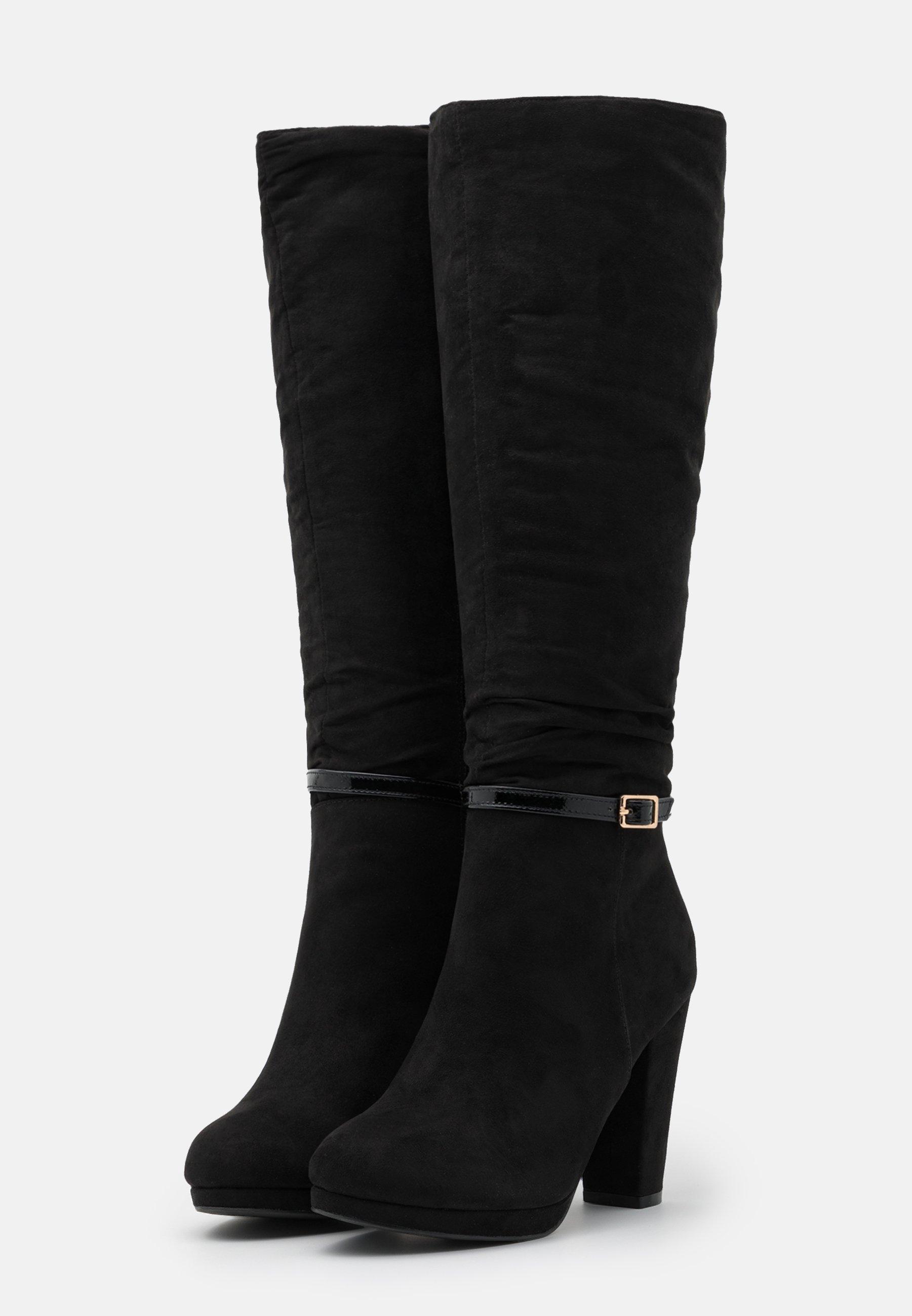 New Look DEENA PLATFORM High Heel Stiefel black/schwarz