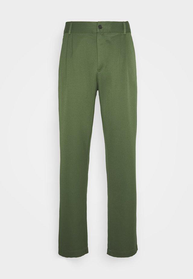 Pantalon classique - green wool