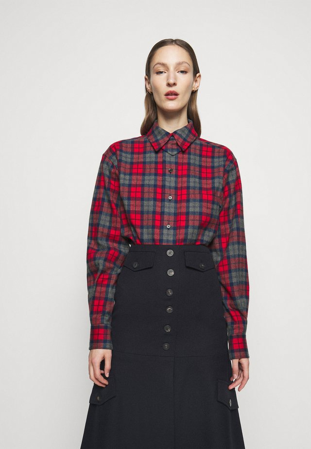 OVERSIZED LUMBERJACK - Chemisier - red/navy