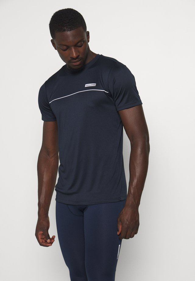 JCOZSS PERFORMANCE TEE - T-shirts med print - navy blazer