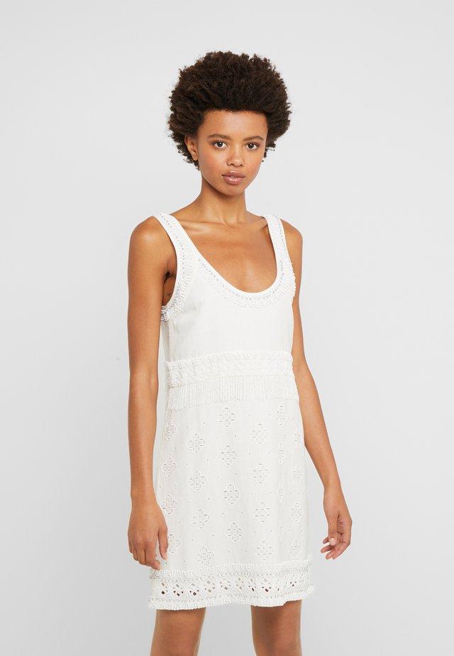 Korte jurk - antique white