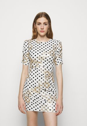 RAZULA - Shift dress - blanc/noir