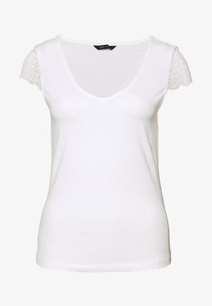ONYFAITH V-NECK - Triko s potiskem - cloud dancer