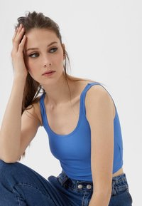 Stradivarius - CROPPED - Top - blue - 3