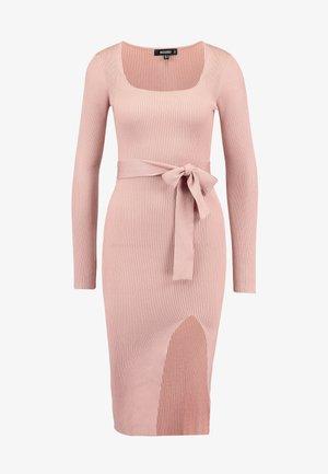 WAIST MIDI DRESS - Shift dress - pink
